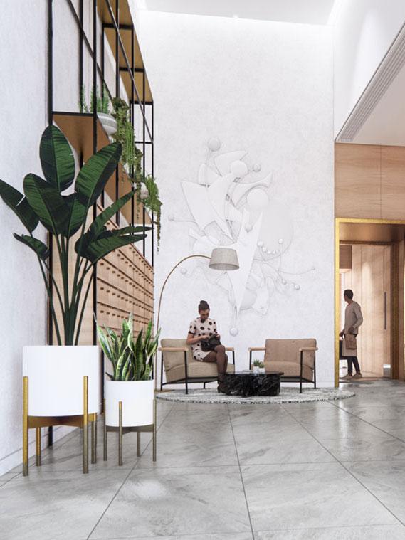 Elizabeth Towers lobby
